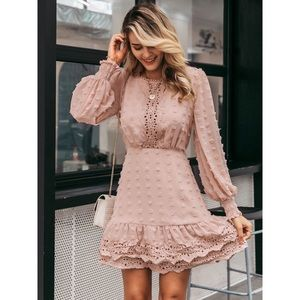 NWT Mauve lace dress